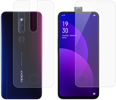 Case Creation Front and Back Screen Guard for Oppo F11 Pro 2019(Pack of 2)