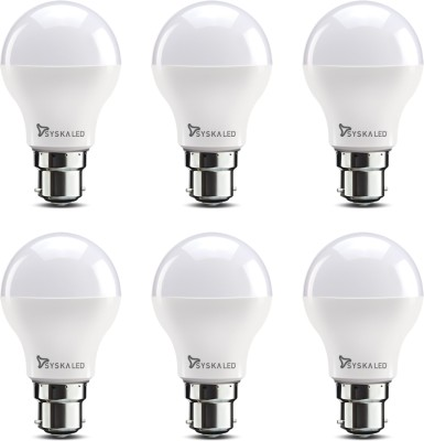 Syska 9 W Standard B22 LED Bulb(White, Pack of 6)