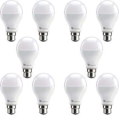 Syska 9 W Standard B22 LED Bulb(White, Pack of 10)