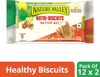 Nature Valley Nutri Biscuits - Butter Nut(600 g, Pack of 24) at flipkart