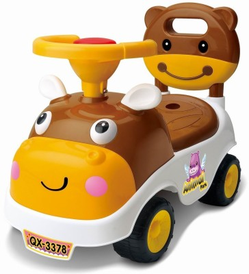 Toyshine My First Ride Hippo Rider Ride-on Toy with Music,[ BROWN ](Brown)