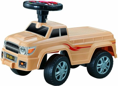 Toyshine Jeep Model Car Rider Ride-on Toy with Music, 1.5-3 Years [ BROWN ](Multicolor)