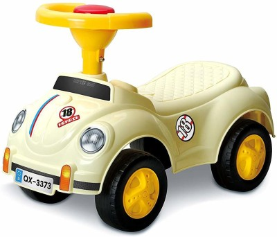 Toyshine Beetle Vintage Car Rider Ride-on Toy with Music, 1.5-3 Years [ CREAM ](Multicolor)