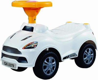 Toyshine Sports Car Rider Ride-on Toy with Music, 1.5-3 Years [ WHITE ](Multicolor)