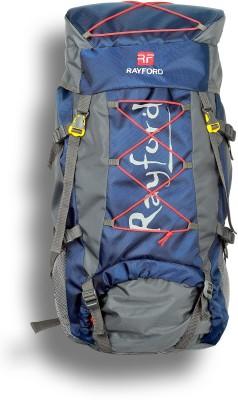Rayford Waterproof Hiking Bags | Riders Trekking Bags Navy Blue Rucksack  - 75 L(Blue)