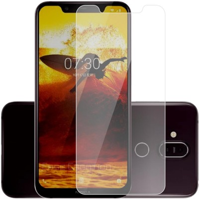 Case Designer Edge To Edge Tempered Glass for New Nokia 8.1(Pack of 1)