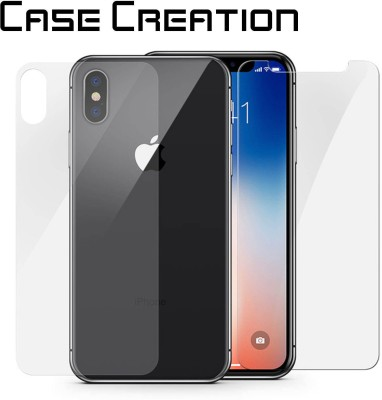 Case Creation Tempered Glass Guard for Apple iPhone X(Pack of 2)