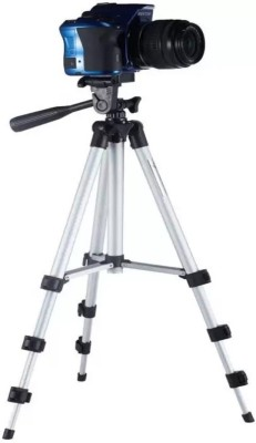 LIFEMUSIC 3110 tripod Ideal for outdoor, travel and timer shoots Tripod Kit(Silver, Black, Supports Up to 3000 g)