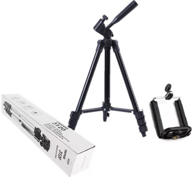 BUY SURETY High Quality Tripod-3120 Portable Adjustable Aluminum lightweight compact stand With Three-Dimensional Head & Quick Release Plate Tripod professional tripod video Camera Tripod/phone tripod Mount For All Smartphone Tripod(Black, Supports Up to 1500 g) 1