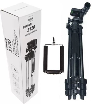 Blue Birds Portable Adjustable Lightweight Camera Stand 3120 Tripod(Black, Supports Up to 1500 g) 1