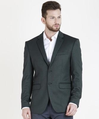 Redwood Solid Single Breasted Party, Formal, Casual, Wedding Men Blazer(Black)
