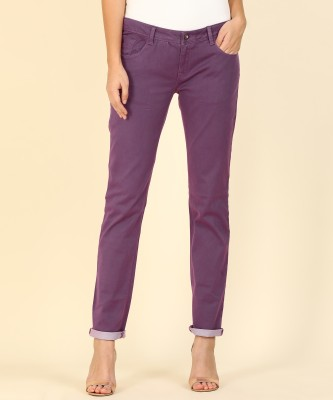 Flying Machine Skinny Women Purple Jeans at flipkart