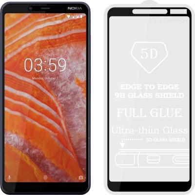 Case Designer Edge To Edge Tempered Glass for Nokia 3.1 Plus(Pack of 1)