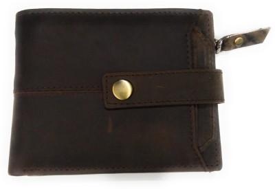 Smartlife Boys Casual Brown Genuine Leather Wallet(9 Card Slots)