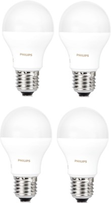 Philips 9 W Standard E27 LED Bulb(White, Pack of 4)