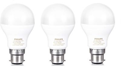Philips 9 W Standard B22 LED Bulb(White, Pack of 3)