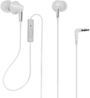 Panasonic TCM125EW Wired Headset with Mic(White, In the Ear)