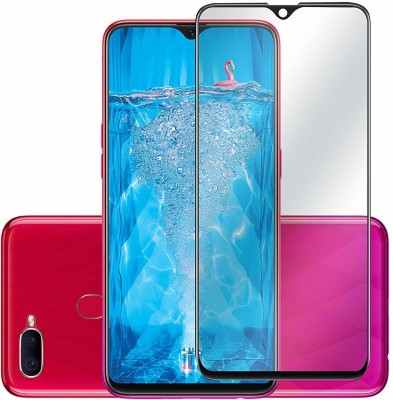 AtoZ accessories Edge To Edge Tempered Glass for OPPO F9 Pro 2.5D Curved edge(Pack of 1)