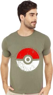Bluehaaat Printed Men Round Neck Green T-Shirt