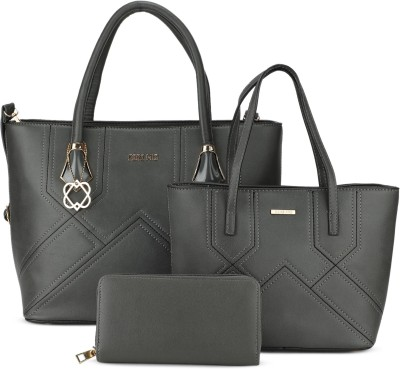 CARA MIA Women Grey Tote