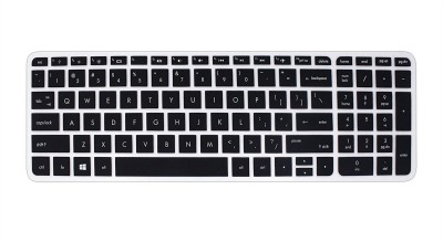 Saco Silicone Chiclet Protector Cover Fit for HP Pavilion 15 AB035TX Laptop Keyboard Skin Black, Transparent