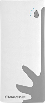 Ambrane P-1122 10000mAh Power Bank (White-Grey)