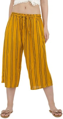 Vastraa Fusion Regular Fit Women Yellow, White Trousers