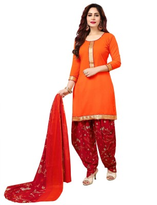 Giftsnfriends Poly Crepe Printed Salwar Suit Material Unstitched