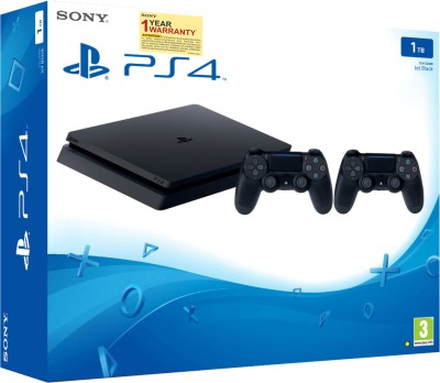 Sony PS4 1 TB  (Jet Black, Extra Dual Shock 4 Controller)