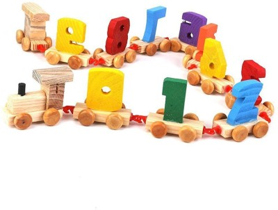 UniqueKrafts Wooden Number/Digital Train Blocks Toys for Kids and Toddlers,Best Educational Set of Trains Yellow UniqueKrafts Educational Toys