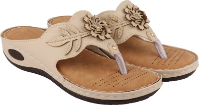 Shoetopia Women Beige Flats
