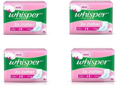 whisper Ultra Soft 2X Softer 7 XL Sanitary Pad Sanitary Pad (Pack of 4) Sanitary Pad(Pack of 4)
