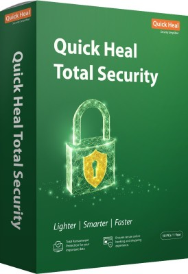 Quick Heal Total Security 10 User 1 Year(CD/DVD)
