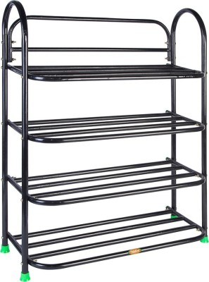 Patelraj Metal Shoe Stand(Black, 4 Shelves)