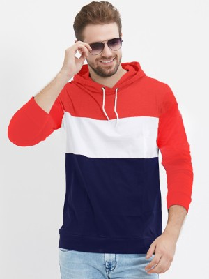 The EG Store Color Block Men Round Neck Red T-Shirt