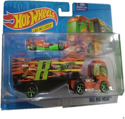 Hot Wheels Big Rig Heat with Car Transporter Collectible Model Multicolor Hot Wheels Push   Pull Along