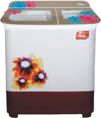 RGL 7 kg Semi Automatic Top Load White, Gold RGLSA70TGPF RGL Washing Machines