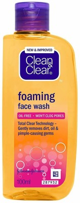 Clean & Clear Foaming  Face Wash(100 ml)