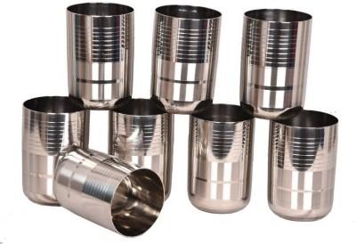 LiMETRO Stainless Steel G5-8 Glass Set(Steel, 350 ml, Steel, Pack of 8)