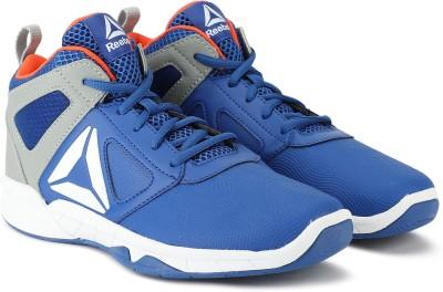 REEBOK Boys Lace Basketball Shoes Blue REEBOK Sports Shoes