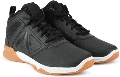REEBOK Boys Lace Basketball Shoes Black REEBOK Sports Shoes