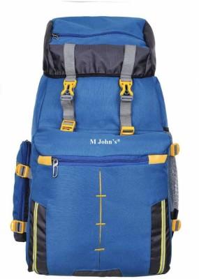 M John's Rucksack, Travel Backpack, Camping Daypack Bag Rucksack  - 70 L(Blue)