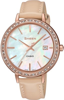 CASIO SX246 Sheen   SHE 4052PGL 7BUDF   Analog Watch   For Women CASIO Wrist Watches