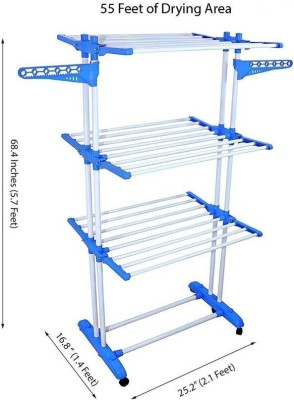 KUMAKA Steel Floor Cloth Dryer Stand KUK001(3 Tier)