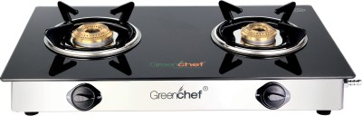Greenchef Glass Manual Gas Stove(2 Burners)