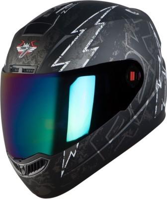 Steelbird R2K LIVE Motorbike Helmet(Matt Black/Grey)