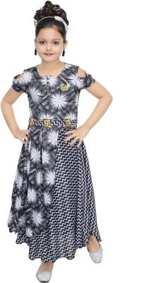 Ahhaaaa Girls Maxi/Full Length Party Dress(Red, Sleeveless)