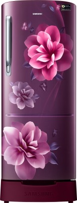 Samsung 192 L Direct Cool Single Door 3 Star Refrigerator with Base Drawer(Star Flower Blue, RR20R1Z2ZU2/HL)