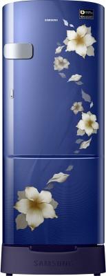 Samsung 192 L Direct Cool Single Door 3 Star Refrigerator with Base Drawer(Camellia Purple, RR20R182ZCR/HL)