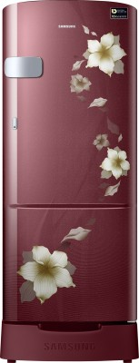Samsung 192 L Direct Cool Single Door 3 Star Refrigerator with Base Drawer(Star Flower Red, RR20R1Z2ZR2/HL)